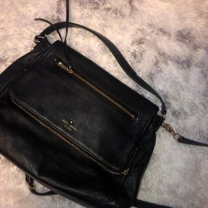 Black Leather Kate Spade Crossbody Purse